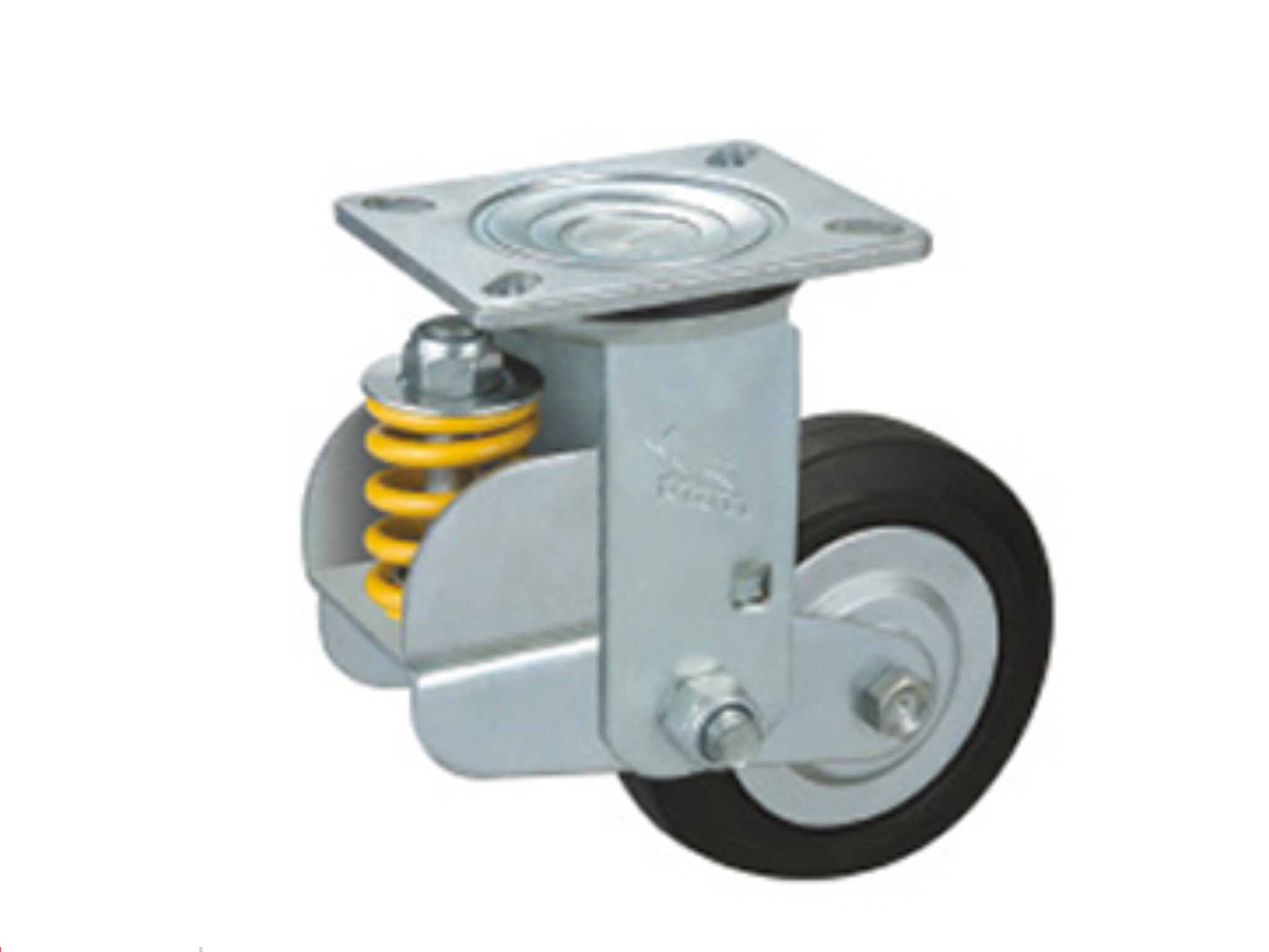 Rubber & Elastic Iron-corn PU Wheel